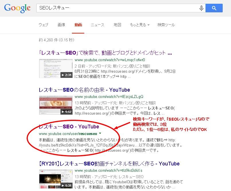20140905SEOレスキューGoogle動画検索