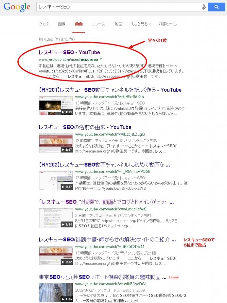 20140905レスキューSEOGoogle動画検索