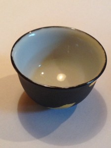 九谷焼竹炭釉彩 ぐい飲み