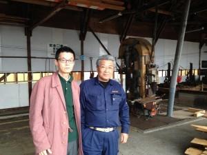 大同木工株式会社社長の岡田和夫と桝田良一2015年1月27日撮影を致しました。