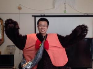 2015年4月25日きぐるみを着たところ