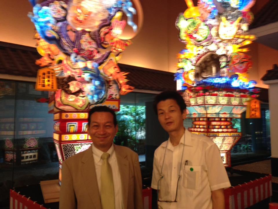 簡憲幸先生と桝田良一 2016年6月28日目黒区雅叙園にて 目黒区倫理法人会MS